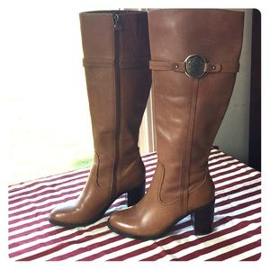 Light Brown Knee High Boots